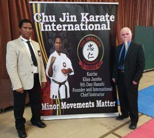 Chu Jin Karate International Founder Kaicho Elias Jacobs and Co-Founder Khyoshi Dave Millar.